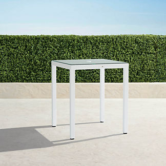 Palermo Square Bar Table in White Finish