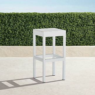 Palermo Backless Bar Stool in White Finish