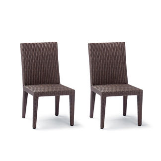 Palermo Dining Side Chairs in Bronze Finish, Set of Two