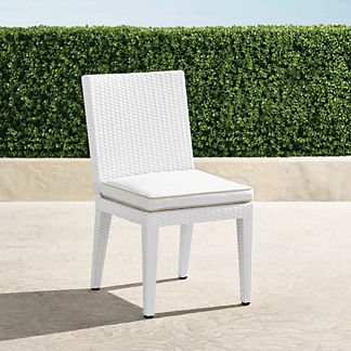 Palermo Dining Side Chairs in White Finish, Set of Two