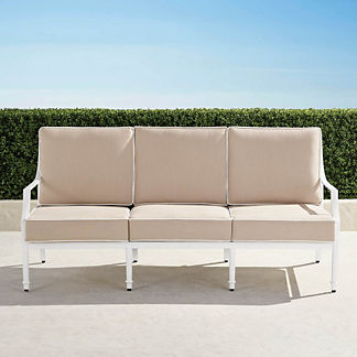 Grayson Sofa with Cushions in White Finish