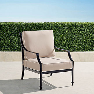Grayson Lounge Chair with Cushions in Black Finish, Special Order