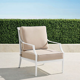 Grayson Lounge Chair with Cushions in White Finish, Special Order