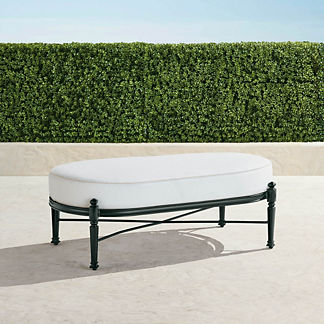 Carlisle Oversized Cuddle Lounge Ottoman in Onyx Finish, Special Order