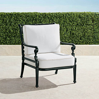 Carlisle Lounge Chair with Cushions in Onyx Finish, Special Order
