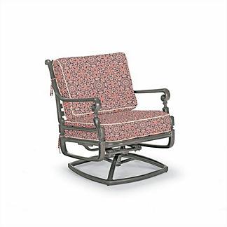 Carlisle Swivel Lounge Chair with Cushions in Slate Finish