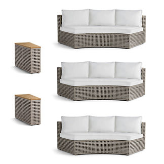Pasadena 5-pc. Sofa Set in Gray Finish