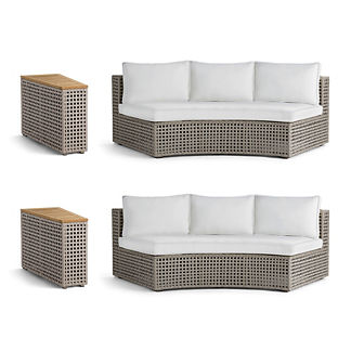 Pasadena 4-pc. Sofa Set in Gray Finish