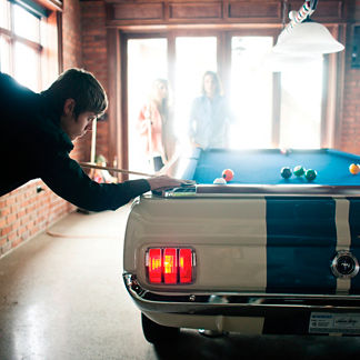 Limited Edition 1965 Shelby GT 350 Autographed Pool Table