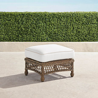 Hampton Ottoman with Cushion in Driftwood Finish, Special Order