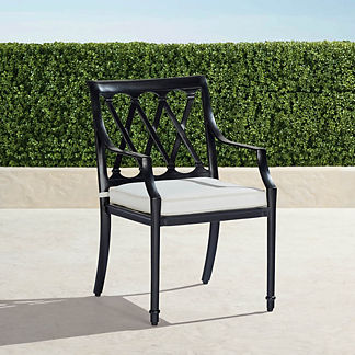 Grayson Dining Arm Chairs in Black Finish, Set of Two
