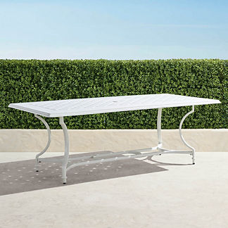Grayson Rectangular Dining Table in White Finish