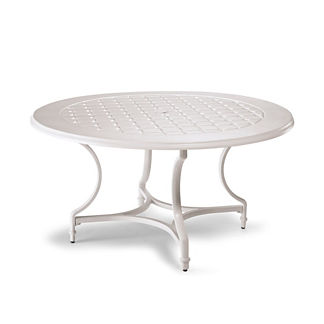 Grayson Round Dining Table in White Finish