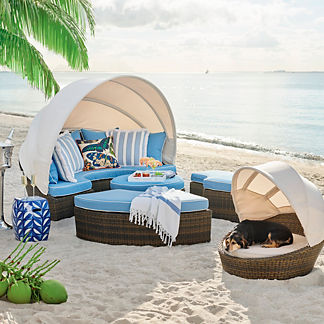 Modular Wicker Outdoor Furniture. Baleares Bronze Modular Lounger
