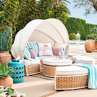 Baleares Daybed in Latte Finish, Special Order
