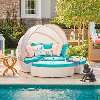 Baleares Five-piece Daybed in White Finish, Special Order