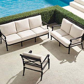 Carlisle 3-pc. Sofa Set in Onyx Finish