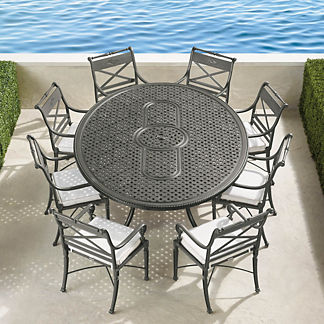 Carlisle 9-pc. Oval Dining Set in Slate Finish