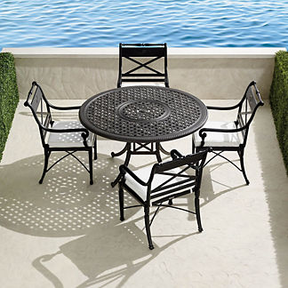 Carlisle 5-pc. Round Dining Set in Onyx Finish