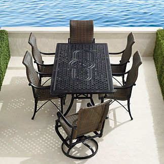 Carlisle Woven 7-pc. Rectangular Dining Set