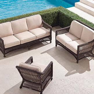 Hampton 3-pc. Sofa Set in Black Walnut Finish