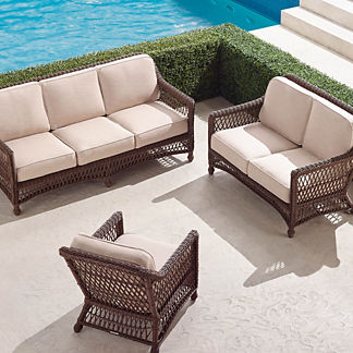 Hampton 3-pc. Sofa Set in Driftwood Finish
