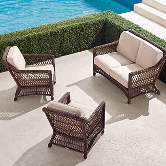 Hampton 3-pc. Loveseat Set in Driftwood Finish