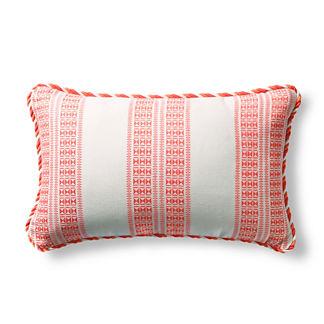 Frontera Trek Sangria Outdoor Lumbar Pillow with Cording