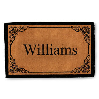 Bellair Last Name Personalized Coco Door Mat
