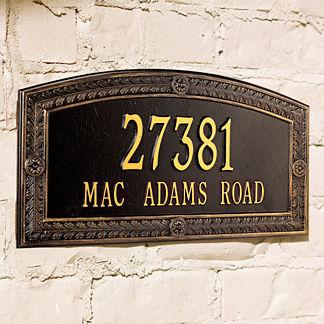 Hamilton Estate Address Plaque