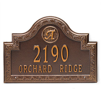Stratford Wall-mount Address Plaque