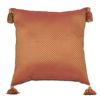 Capello Scarlet Pillow with Tassles