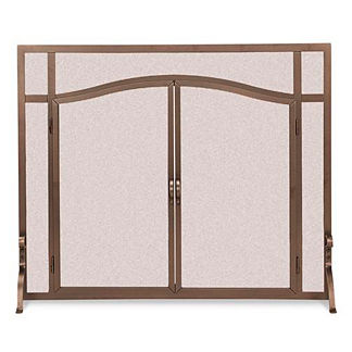 Custom Arched-top Forged Fireplace Screen