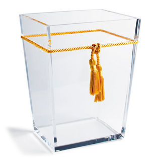 Ice Wastebasket with Tassel by Mike & Ally