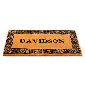 36-inch x 72-inch Greek Key Personalized Door Mat