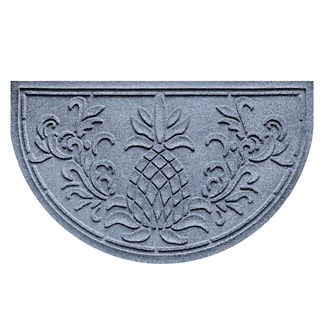Water & Dirt Shield™ Pineapple Half-round Door Mat