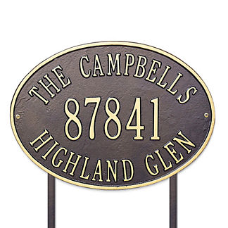 Hawthorne Standard Lawn Address Plaque