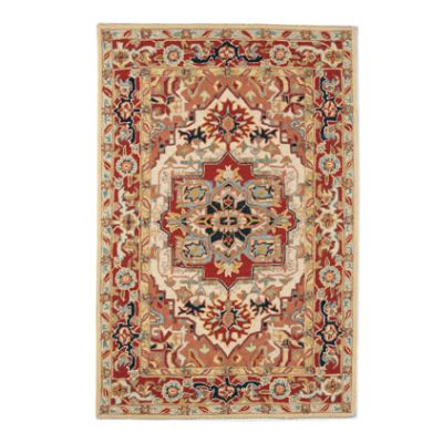 phoenix hand-hooked wool area rug | frontgate