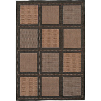 Summit All-weather Rugs in Black/Cocoa