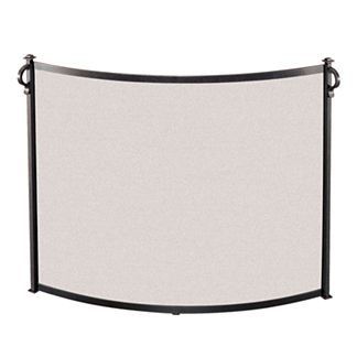 American Craftsman Bowed Fireplace Screen