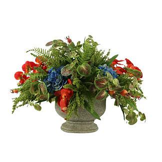Fern, Orchid, Hydrangea Arrangement