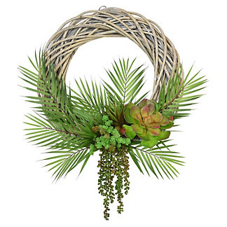 Yuma Succulent and Cactus Wood Wreath