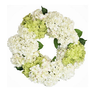 Canyon Blush and Lime Hydrangea Wreath