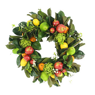 Mixed Fruit and Greenery Wreath