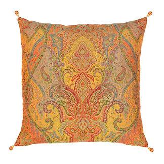 Raj Paisley Decorative Pillow by Elaine Smith