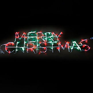LED Mini Merry Christmas Sign