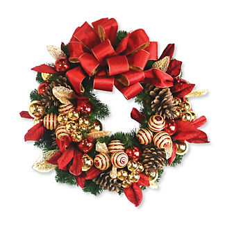 Evergreen Festive Red Wreath