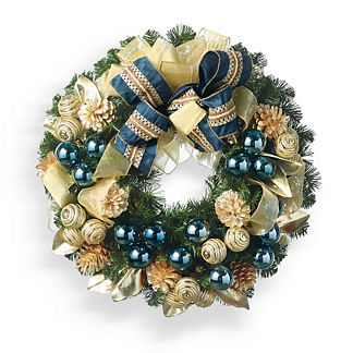 Evergreen Festive Blue Wreath