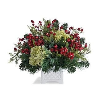 Evergreen Hydrangea Berry Arrangement