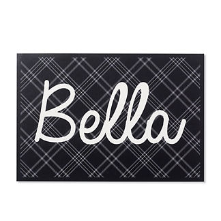 Holiday Plaid Pet Placemat